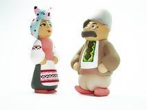 Andenken. Ukrainischer Mann und Frau. Stockfoto