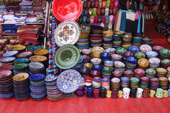 Andenken vom Markt in Marrakesch Stockfotos