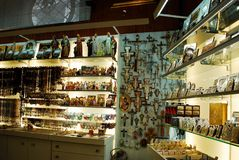 Andenkenshop in Rom-Stadt am 31. Mai 2014 Stockfoto