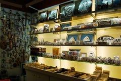 Andenkenshop in Rom-Stadt am 31. Mai 2014 Stockfotos