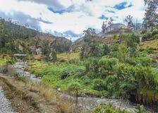 Andenszene Alausi Ecuador Stockfotos