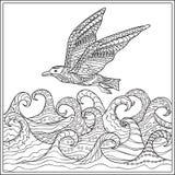 Ander de Gaviota el océano Imagen de archivo libre de regalías