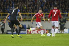 Ander Herrera Champion League FC Brügge - Manchester United Lizenzfreies Stockbild