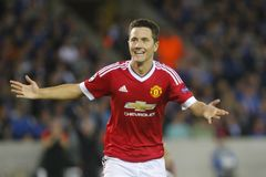 Ander Herrera Champion League FC Bruges - Manchester United Immagine Stock