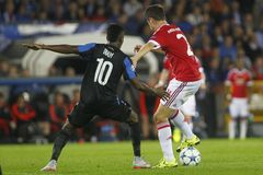 Ander Herrera Champion League FC Bruges - Manchester United Fotografie Stock