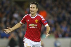 Ander Herrera Champion League FC Bruges - Manchester United Fotografia Stock