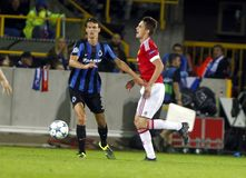 Ander Herrera Champion League FC Bruges - Manchester United Stock Images