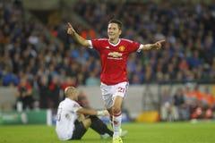 Ander Herrera Champion League FC Brugge - Manchester United Royalty-vrije Stock Afbeelding