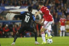 Ander Herrera mistrza liga FC Bruges, Manchester United - Zdjęcia Stock