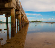 Ander The Pier Royalty Free Stock Photography