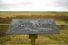 Anderby Creek marsh plaque. Stock Photo