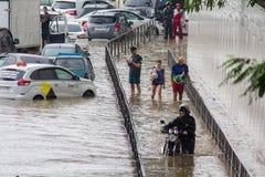 Andere überschwemmen in Sochi, Adler-Bezirk 06 07 2018 stockbilder