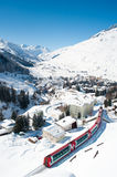 Andermatt in de winter Stock Foto's