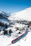 Andermatt in inverno Fotografie Stock