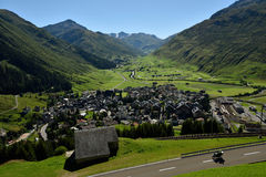 Andermatt, Urner Alpen, Switzerland Stock Images