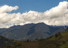 Anderna berg, Sydamerika, Ecuador Arkivbild