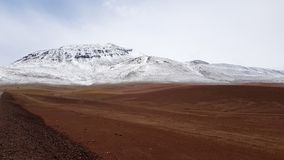 Anderna mellan Chile och Bolivia arkivfoton