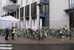 Anders Behring Breivik-proef in Oslo Royalty-vrije Stock Afbeeldingen