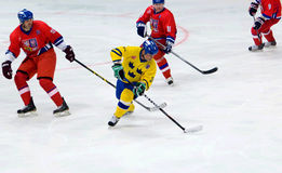 Anders Carlsson (10) in actie Stock Foto's