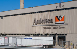Andersen Windows Manufacturing Plant Stock Foto's