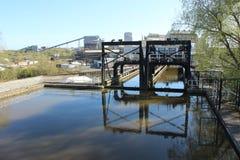 Anderson Boat Lift, Cheshire fotos de stock royalty free