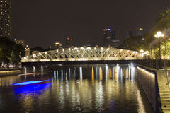 Anderson bridge at night Royalty Free Stock Images