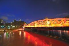 Anderson Bridge (Singapore) Stock Images