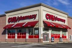 Anderson - circa noviembre de 2016: Ubicación de la venta al por menor de la farmacia de CVS CVS es la cadena más grande de la fa Imágenes de archivo libres de regalías