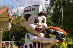 Anderson - Circa October 2016: Frisch's Big Boy restaurant, home of the Big Boy Hamburger III royalty free stock photos