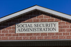 Anderson - Circa October 2016: Local Branch of the Social Security Administration II. Local Branch of the Social Security Administration. The SSA administers Royalty Free Stock Images