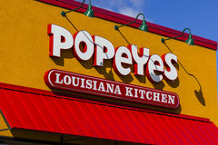 Anderson - Circa October 2016: Popeyes Louisiana Kitchen Fast Food Restaurant. Popeyes is known for Cajun Style Fried Chicken I Stock Image