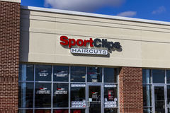 Anderson - Circa October 2016: Sport Clips Strip Mall Haircut Location. SportClips offers a sports themed experience II. Sport Clips Strip Mall Haircut Location stock photography