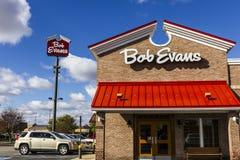 Anderson - Circa Oktober 2016: Bob Evans Restaurant Bob Evans verkoopt ook een kleinhandelslijn van voedingsmiddelen I Royalty-vrije Stock Afbeelding