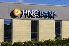 Anderson - Circa Oktober 2016: PNC-Banktak Financiële Kleinhandels, Collectieve de Dienstenaanbiedingen van PNC en Hypotheek die  stock afbeeldingen