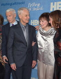 Anderson Cooper, Stan Stakowski, Gloria Vanderbilt, and Liz Garbus. Director Liz Garbus (right) seems to be at a family gathering with half-brothers Anderson stock photos