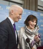 Anderson Cooper y Gloria Vanderbilt Imágenes de archivo libres de regalías