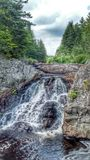 Anderson Falls, NB. Water falls in Nature Royalty Free Stock Photo