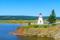 Anderson Hollow Lighthouse i New Brunswick arkivfoton