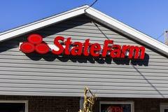 Anderson - Około Październik 2016: State Farm Asekuracyjnego agenta lokacja State Farm Oferuje Asekuracyjne i Pieniężne usługa II Obraz Stock