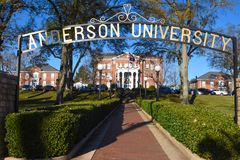 Anderson uniwersytet zdjęcia royalty free