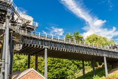 Anderton-Bootslift, Kanalrolltreppe Lizenzfreies Stockbild