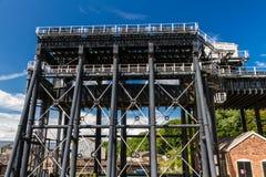 Anderton fartygelevator, kanalrulltrappa Royaltyfri Fotografi