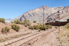 Andes Argentina Railroad Stock Image