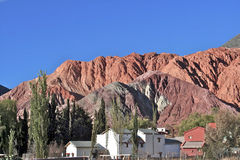 Andes Argentina village Stock Images