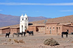 Andes Argentina village Stock Photos