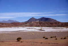 Andes and atacama desert, Uyuni, Bolivia Royalty Free Stock Photos