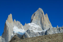 Andes Austral Fitz Roy peak Royalty Free Stock Photos