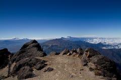 Andes berg, Ecuador, flyg- sikt Royaltyfria Bilder