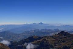 Andes berg, Ecuador, flyg- sikt Arkivbild