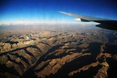 Andes berg som ses från det plant Royaltyfria Bilder